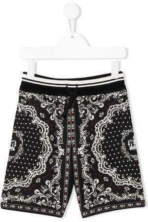 Dolce & Gabbana Bandana print track shorts