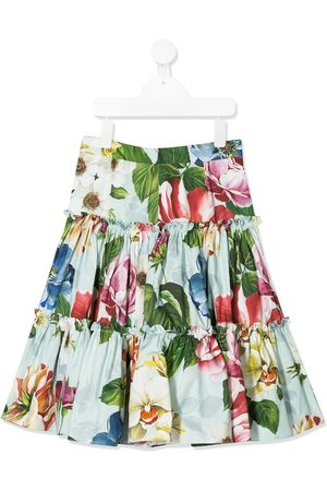 Dolce & Gabbana Kids Floral-print tiered gathered skirt
