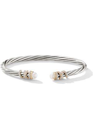 David Yurman Women Bracelets - Sterling silver and 18kt yellow gold Helena pearl and diamond cuff - S8DPEDI