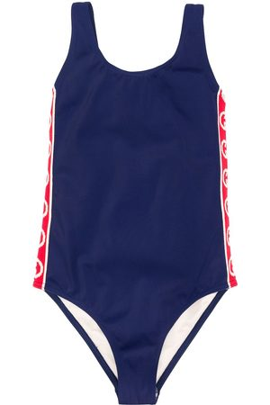 Gucci Appliqué stripe swimsuit
