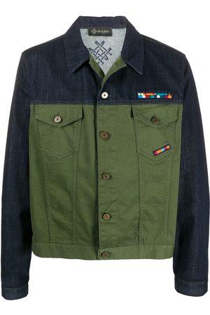 Mr & Mrs Italy Panelled denim and khaki jacket