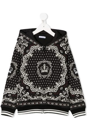 Dolce & Gabbana Baroque-print hooded jacket