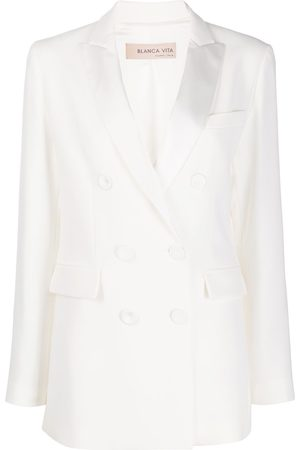 BLANCA Double-breasted peak lapel suit jacket