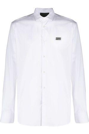 Philipp Plein Skull embroidered long sleeve shirt