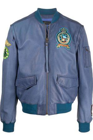 Mr & Mrs Italy Logo patch bomber jacket