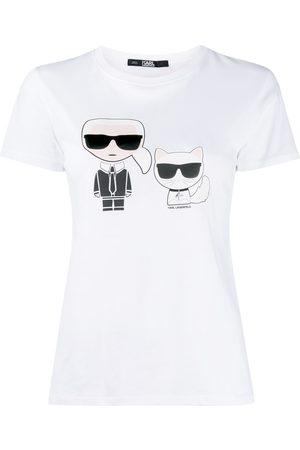 Karl Lagerfeld Women T-shirts - Ikonik Karl & Choupette T-shirt
