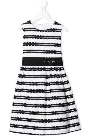Il gufo Striped jacquard dress