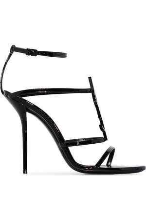 Saint Laurent Cassandra logo plaque 110mm sandals