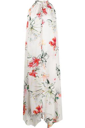Alexander McQueen Endangered Flower print sleeveless dress