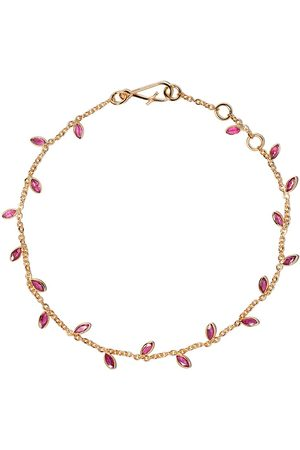 ANNOUSHKA 18kt Vine Leaf ruby bracelet - 18ct