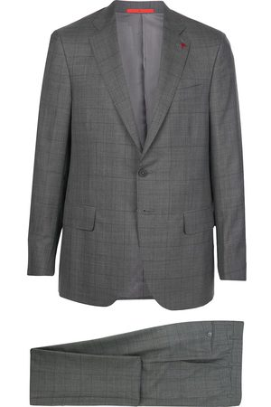 Isaia Single-breasted check suit - Grey