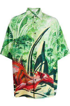 VALENTINO Dragon print short-sleeved shirt