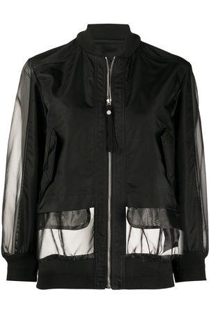 Mr & Mrs Italy Sheer panel bomber jacket