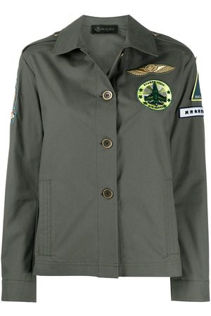 Mr & Mrs Italy Embroidered detail boxy fit jacket