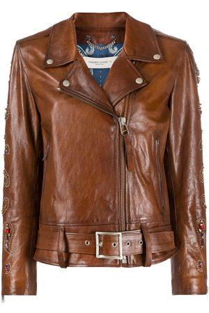 Golden Goose Embellished biker jacket