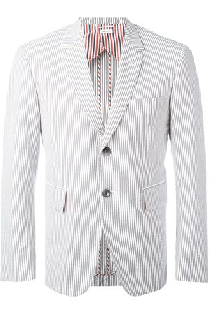 Thom Browne Single Breasted Sport Coat With Half Lining In Seersucker
