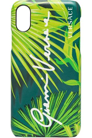 VERSACE Leaf print iPhone XS case