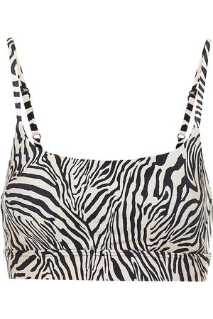 The Upside Natacha zebra-print sports bra