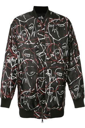 HACULLA Abstract print bomber jacket