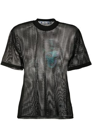 OFF-WHITE Printed net top