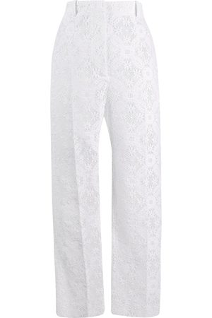 Alexander McQueen Endangered flower lace cigarette trousers
