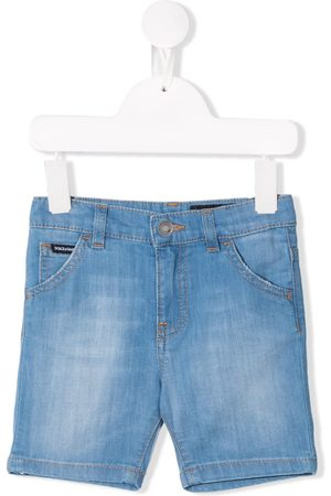 Dolce & Gabbana Logo plaque denim shorts