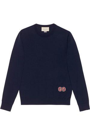 Gucci GG logo patch jumper