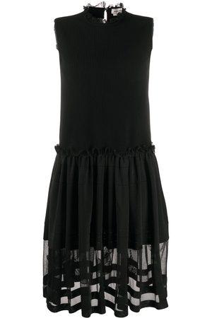 Alexander McQueen Tulle skirt ribbed sleeveless dress