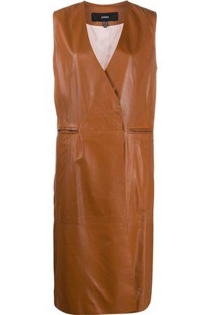 arma leder Double breasted tailored waistcoat