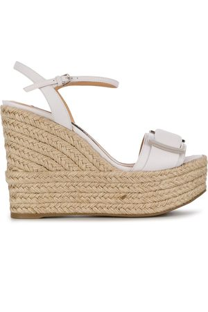 Sergio Rossi Raffia wedge sandals