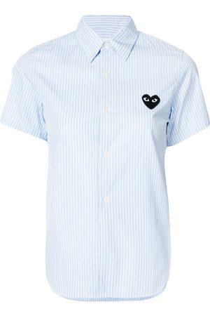 Comme des Garçons Striped-print short-sleeved shirt