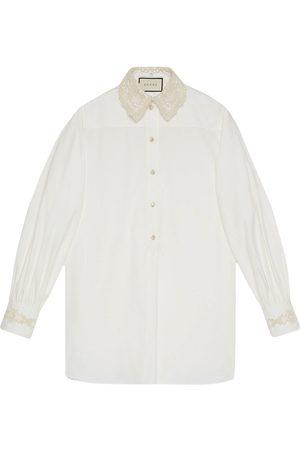 Gucci Detachable collar oversized shirt