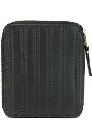 Comme des Garçons Vertical stitch detail zipped wallet