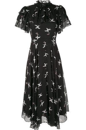Macgraw Flight Bird Print dress