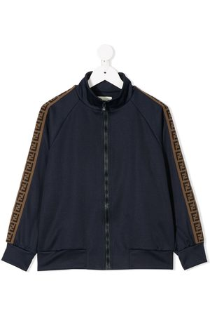 Fendi FF trim bomber jacket