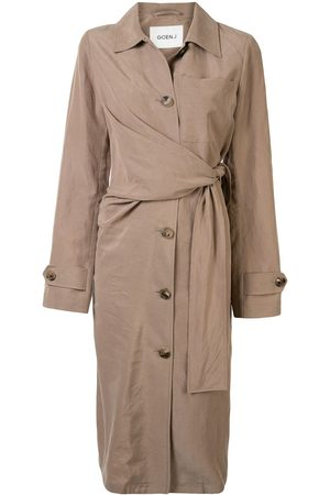 GOEN.J Waist-tied trench coat