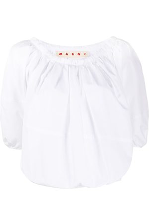 Marni Half-sleeve cropped blouse