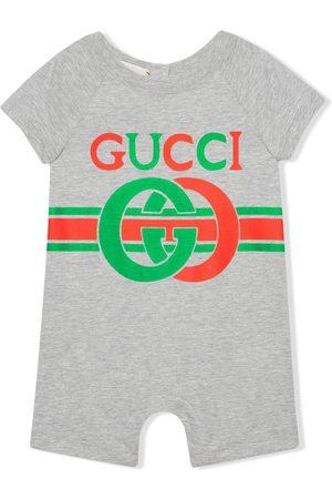 Gucci Interlocking G print cotton one-piece - Grey