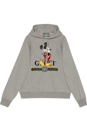 Gucci X Disney Mickey Mouse logo hoodie - Grey