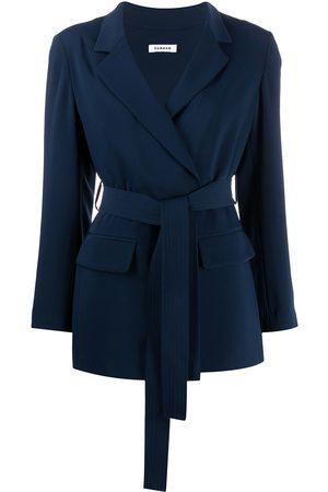 P.a.r.o.s.h. Lightweight tie waist jacket