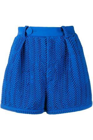 MARCO DE VINCENZO Pleated wave pattern shorts