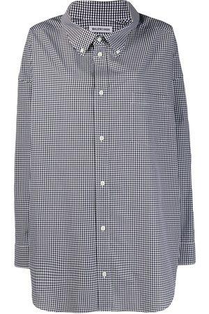 Balenciaga Cocoon Swing gingham shirt