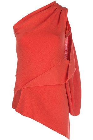 MONSE One-shoulder draped top