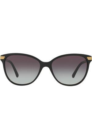 Burberry Eyewear Check detail round sunglasses