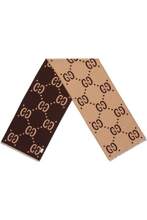 Gucci Men Scarves - GG jacquard wool silk scarf