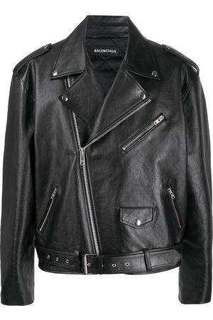 Balenciaga Logo print biker jacket