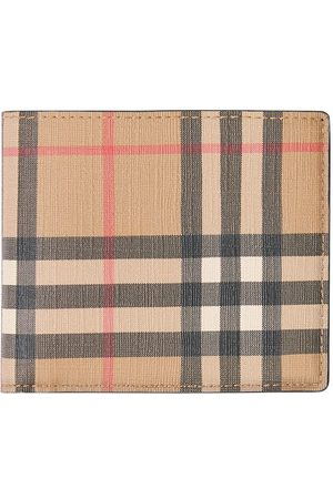 Burberry Men Wallets - Vintage Check E-canvas International Bifold Wallet