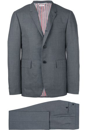 Thom Browne Men Suits - Classic Plain Weave Suit in Super 120s Wool - Grey