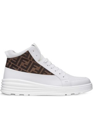 Fendi Jacquard FF motif high-top sneakers