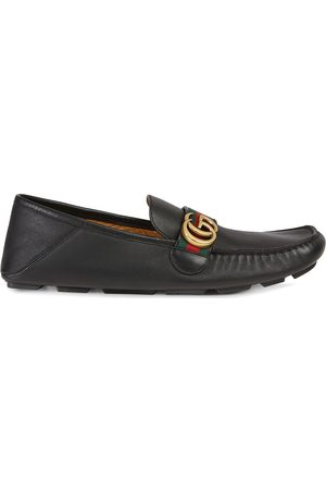 Gucci Men Loafers - Leather driver with Web